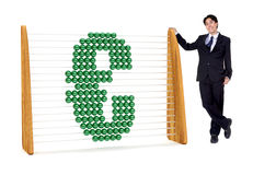 Business man with an euro symbol Stock Photography