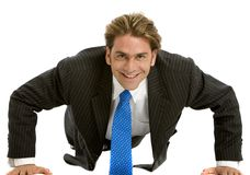 Business man exercising Stock Photography