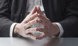 Business man explaining with gestures Royalty Free Stock Photography