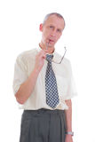 Business man expression isolated Stock Photography