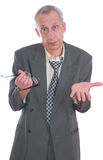 Business man expression isolated Royalty Free Stock Photography