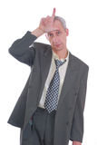 Business man expression loser Stock Photo