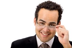 Business man with eyeglasses Stock Image