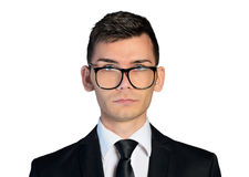 Business man with eyeglasses Stock Photos