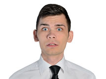 Business man fear face Royalty Free Stock Images