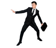 Business man fear position Stock Images