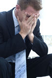 Business man feeling the stress of the day Stock Image