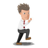 Business Man Fighting Boxer Pose. Vector Royalty Free Stock Photo