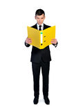Business man with file Stock Photos