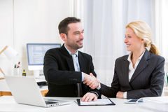 Business man finalising agreement at the office Royalty Free Stock Image