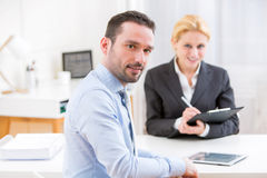 Business man finalising agreement at the office Stock Images