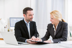 Business man finalising agreement at the office Royalty Free Stock Photo