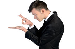 Business man finger flick Royalty Free Stock Photos
