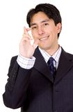 Business man with fingers crossed Stock Photos