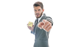 Business man firing employee Royalty Free Stock Photo