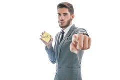 Business man firing employee Royalty Free Stock Images