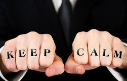 Business man fist royalty free stock photo