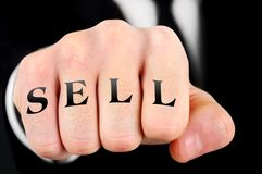 Business man fist Royalty Free Stock Images