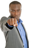 Business man fist sign Stock Image
