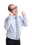 Business man fist up Stock Images