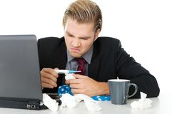 Business man with flu Stock Image