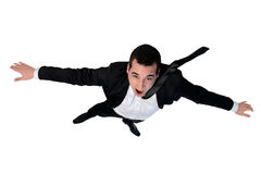 Business man fly position Stock Photo