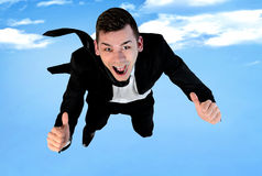 Business man fly Stock Images