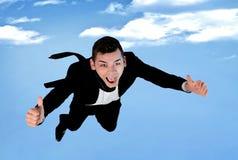 Business man fly Stock Photos