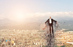 Business man flying Stock Image