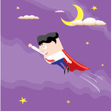 Business man flying. vector illustration. Royalty Free Stock Images