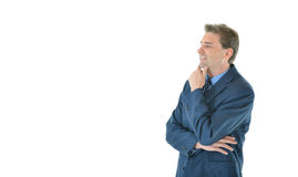Business man with folded arms looking away Royalty Free Stock Image