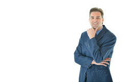 Business man with folded arms looking straight Royalty Free Stock Image