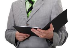 Business Man with folder. Business-man clothed in business-suit with folder stock images