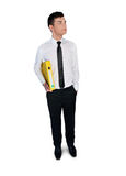 Business man with folder Stock Photography