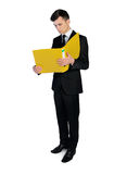 Business man with folder Royalty Free Stock Image