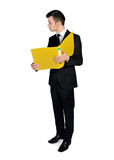 Business man with folder Royalty Free Stock Photo