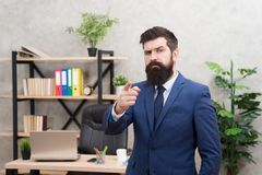 Business man formal suit successful guy. Run a company. Human resources. Job interview. Recruiter professional. Occupation. Man bearded top manager boss in royalty free stock photo