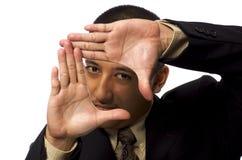 Business Man Framing Himself Stock Images