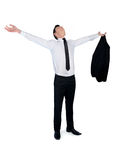 Business man freedom concept Stock Photography