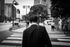 Business man in Fukuoka, Japan. On street Stock Image