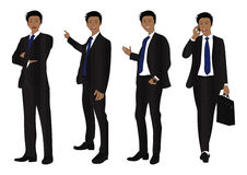 Business Man Full Body Color Black Royalty Free Stock Images