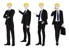 Business Man Full Body Color Blonde Royalty Free Stock Photo