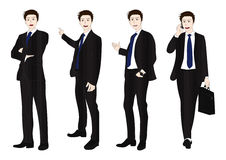 Business Man Full Body Color Royalty Free Stock Photo
