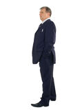 Business man full-length. Isolated on white background stock photo