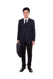 Business man, full length isolated on white. Background royalty free stock image