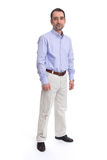 Business man is in full length. Over a white background stock photography
