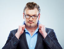 Business man funny portrait. . Stock Photography