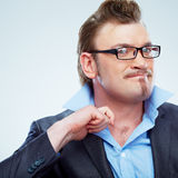 Business man funny portrait. . Stock Image
