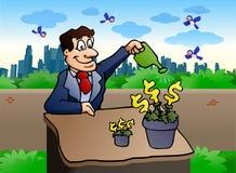 Business man gardening Stock Photos