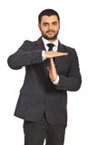 Business man gesture time out Stock Photo